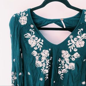 Free People Dresses - FREE PEOPLE SWEET TENNESSEE EMBROIDERED DRESS